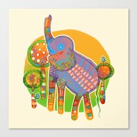 The Quilted Jungle Canvas Print
