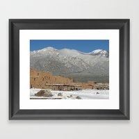 Taos Pueblo, NM Framed Art Print