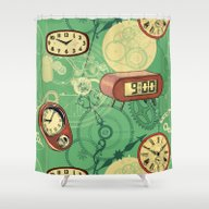 Shower Curtain featuring TIC TAC TIME by Chicca Besso