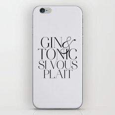 Gin iPhone & iPod Skin