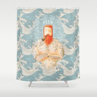 Shower Curtain featuring Sailor by Seaside Spirit