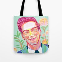 The 1950s Handsome Man Tote Bag