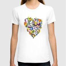 Latinoamérica LOVE Womens Fitted Tee White SMALL