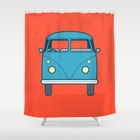 #53 Volkswagen Type 2 Splitscreen Bus Shower Curtain