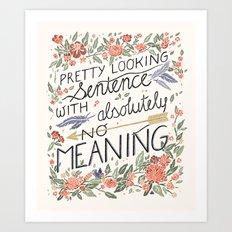Pretty Sentence II Art Print