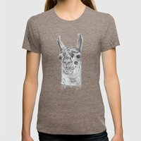 Llama Womens Fitted Tee Tri-Coffee SMALL