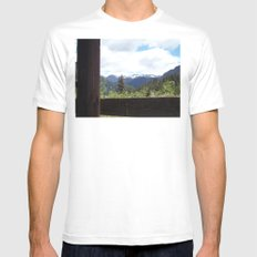 Peeking Out Mens Fitted Tee SMALL White