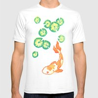 Swimming Fish Mens Fitted Tee White SMALL