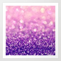 Fizzy Grape Art Print
