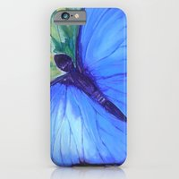 iPhone & iPod Case featuring Blue Butterfly: Transfiguration by Jeannette Stutzman