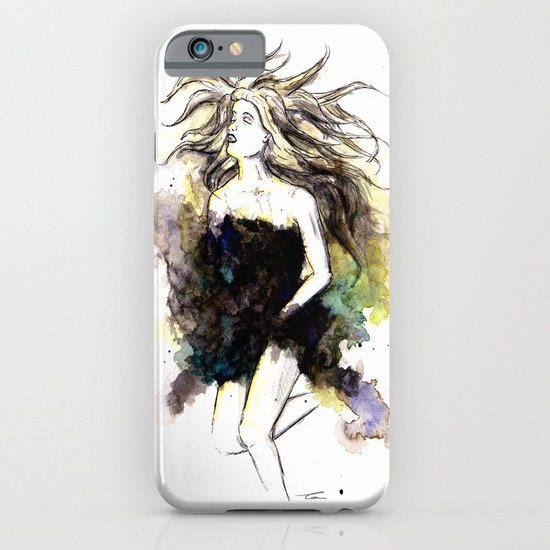 Watercolor Girl iPhone & iPod Case