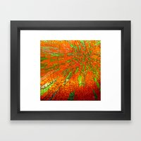 Metallic sun Framed Art Print