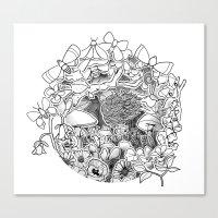 Swing (3D papercut) Canvas Print