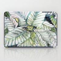 Poinsettia Watercolors iPad Case