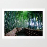 Serendipity In Kyoto Art Print