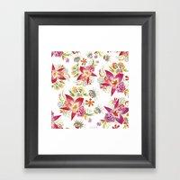 Tropical Flowers Waterco… Framed Art Print