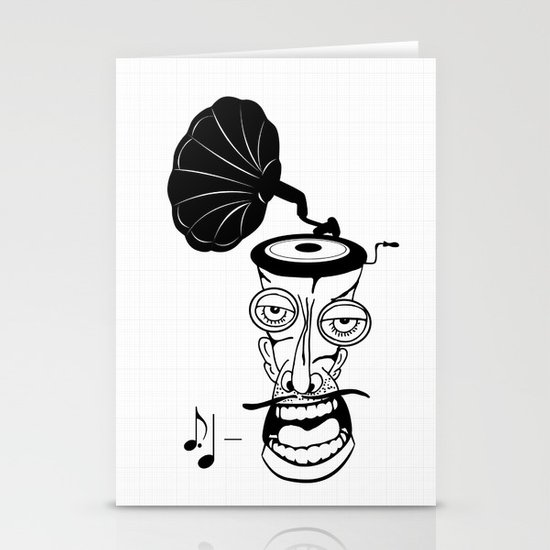 Music In My Head Stationery Card