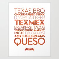 Austin — Delicious City Prints Art Print