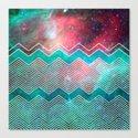 Chevron Galaxy Canvas Print