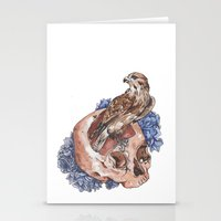Hawk and Skull Stationery Cards