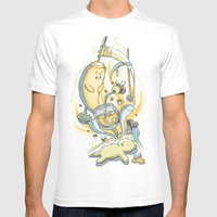 Honeysiiickle Mens Fitted Tee White SMALL