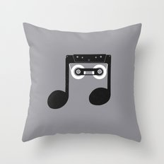 Analog Music Throw Pillow