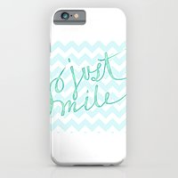 Just Smile - hand lettered calligraphy art print iPhone 6 Slim Case