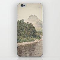 Retro Mountain River iPhone & iPod Skin