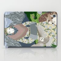 Lady With An Owl And A D… iPad Case
