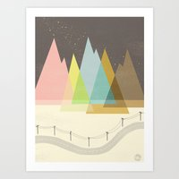 Highway Under Stars Art Print