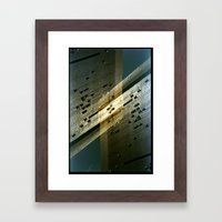 Landscapes c21 (35mm Double Exposure) Framed Art Print
