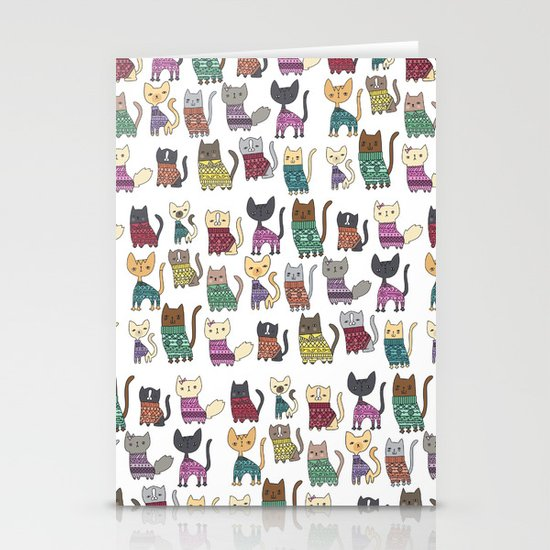 sweater cats Stationery Card