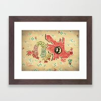 My Childhood Dragon Play… Framed Art Print