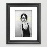 Beginning (the Girl O1) Framed Art Print