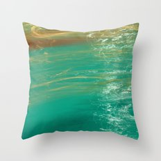 Swimming Pool / green water Throw Pillow