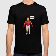 Iron Man Mens Fitted Tee Black SMALL