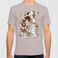 American Traditional Tattoo Collage (Brown) Mens Fitted Tee Cinder SMALL