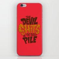The Devil Shits... iPhone & iPod Skin