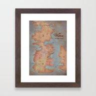 Westeros- Game Of Throne… Framed Art Print