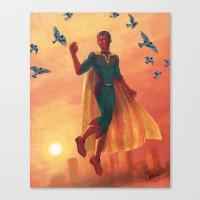 walking in the air Canvas Print
