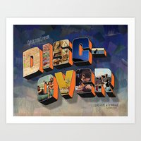 Greetings From Discover Art Print