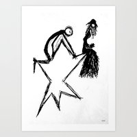 Zvezda Zhena Art Print