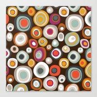 Veneto Boho Spot Chocola… Canvas Print