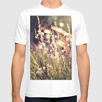 Flowers And Light Mens Fitted Tee White SMALL