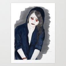 Vampire Girl Art Print