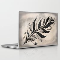 feather Laptop & iPad Skins featuring FEATHER by Nika
