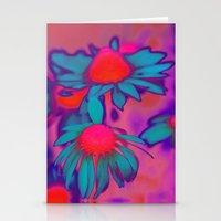 Fluro Flower Stationery Cards