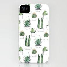 watercolour cacti and succulent iPhone (4, 4s) Slim Case
