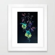 flower earrings Framed Art Print