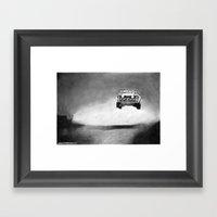 Audi Quattro Flying Framed Art Print